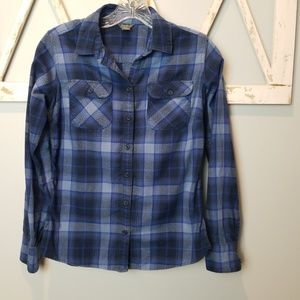 XS Eddie Bauer plaid flannel shirt